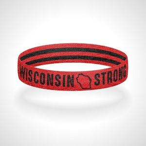 Reversible Wisconsin Strong Wristband Bracelet